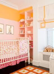 pink and orange nursery