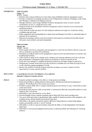 Sample Dispatcher Resume Dispatcher Resume Samples Velvet Jobs 9