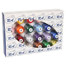 Robison Anton Best 24 Colors X 1100 Yard Cone Embroidery Thread Kit 40wt Choose Poly For Greater Strength Less Breakage Or Rayon For More Sheen