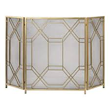 Unique fireplace screens Doors Image Unavailable Amazoncom Amazoncom Mid Century Modern Geometric Fretwork Fireplace Screen
