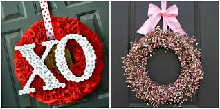 30 DIY Valentine\u0027s Day Wreaths - Homemade Door Decorations for ...