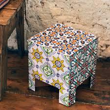 moroccan stool moorish tiled table i pap 26gbp