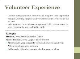 Volunteer Work Resume Examples Resume Sample For Volunteer Work Blaisewashere Com