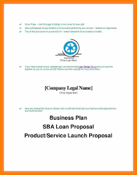 Business Cover Page Example Business Plan Cover Page Sample