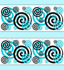 image is loading spiral wallpaper border wall art decals girls turquoise  on wall art decals borders with spiral wallpaper border wall art decals girls turquoise teal blue