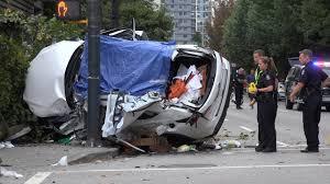 fatal car accident. horrific fatal car crash seymour st \u0026 dave vancouver canada 4k video accident