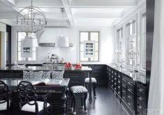 gallery glossy contemporary kitchen black