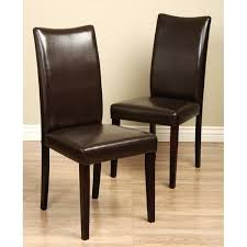 4 leather dining chairs brown leather dining chair set of 4 4 faux leather dining room