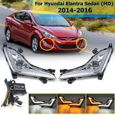 2018 Hyundai Elantra Daytime Running Lights 1 Pair Front Led Drl For Hyundai Elantra Sedan 2014 2015