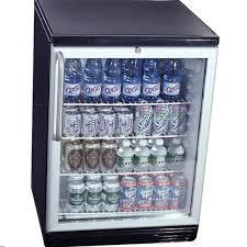 glass front beverage cooler
