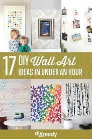 17 diy wall art ideas you can make in