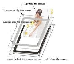 Led Light Box Display Stand Acrylic frame a100 led menu board stand display light boxin 50