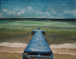 try handmade gallery ocean with blue dock painting try handmade gallery free handmade advertising