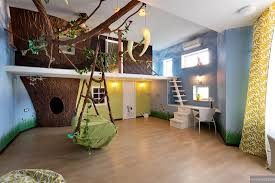 inside kids tree houses. Childrens-tree-house-playroom-with-swing-on-pastel- Inside Kids Tree Houses D