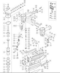 hitachi nt65m2. nt65m2 - pneumatic finish nailer parts schematic hitachi nt65m2 5