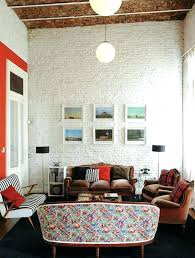 painting brick walls interior view in gallery white painted brick wall interior