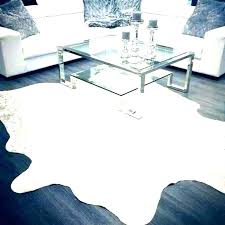 white and silver faux cowhide rug fake reasons to choose real over exotic rugs c
