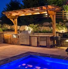 pergola and outdoor kitchen