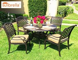 coastlink furniture nevada 5 piece cast aluminum outdoor dining set with 48 round table