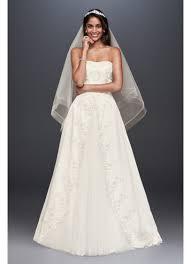 embroidered wedding dress. Embroidered Satin Split Ball Gown Wedding Dress Davids Bridal