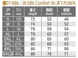 Winter Jacket Size Chart Jk 586 Comfort Winter Jacket Fuwa