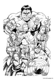Adult Avengers Hulk Coloring Pages Printable