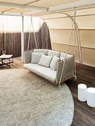 lovely cozy outdoor swing