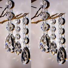 60pc acrylic crystal bead chandelier wedding centerpiece garland chain prisms 1 of 1free