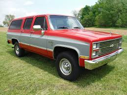 Chevy Chevrolet 1984 84 Suburban Silverado K20 4x4 3/4ton red gray