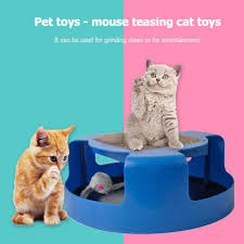 chinatera pet cat toy false mouse turbo scratching board cats kitten interactive toys
