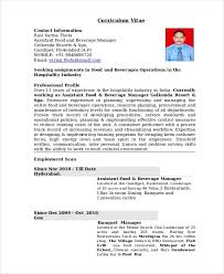 Restaurant Manager Resume Template Free Word Pdf Document Intended