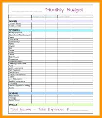 Easy Monthly Budget Template Simple Budget Template App Monthly Worksheet Printable Basic
