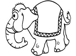 Cartoon Elephant Coloring Pages Template Baby Artigianelliinfo