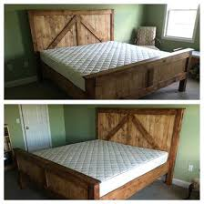 King Size Farmhouse Bed Rustic King Size Farmhouse Bed W Platform ...