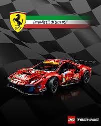 Lego technic 42125 ferrari 488 gte af corse #51 ferrari 488 gte er en bil, der ikke ligner nogen anden, og den har høstet sejr efter sejr til den stejlende hest i verdens hårdeste udholdenhedsløb. Lego Ideas Design An Iconic Ferrari Poster Ferrari 488 Gte Af Corse 51 Poster