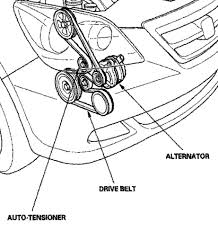 4dlv2 odyssey diagram the tensioner slide belt pulley