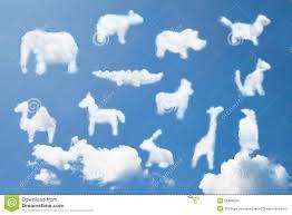 Cute <b>Animal Cartoon Pattern</b> Clouds Shape Stock Photo - Image of ...