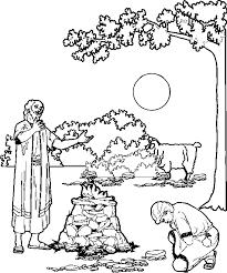 Abraham Offert Izaak Oude Testament Bijbel Kleurplaten Bijbel