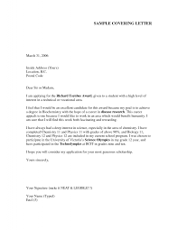 How To Write Cover Letter Examples For Job Applications Www