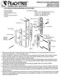 peachtree prado sliding door hardware installation instructions