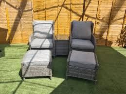 reclining rattan garden chairs