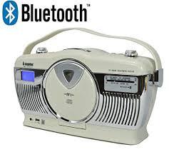 Steepletone Stirling Cream <b>Retro Style</b> Bluetooth Portable <b>Music</b> ...
