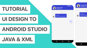 Chat Ui Design Android Chat App Ui Design To Android Studio Xml And Java Tutorial