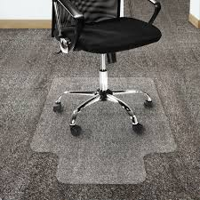 chair mat with lip. Office Marshal Polycarbonate Chair Mat With Lip For High Pile Carpet Floors, 36\ O