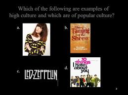 what we ve learned so far pop culture high culture bases of 3 which