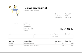 Template For Invoice For Services Cleaning Service Invoices Templates Invoice Free Receipt Template