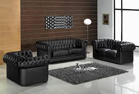 black modern couches. Unique Black Excellent Modern Furniture Design Of Black Leather Chesterfield Sofa Also  Glossy Floor On Couches L