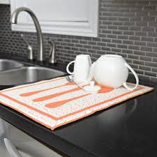 harman cucina microfiber dish drying mat orange kitchen stuff plus