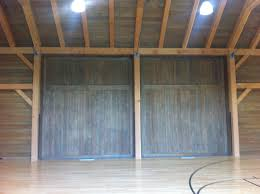 14 ft garage doorCustom barn doors  indoor basketball court 3  AJ Garage Door
