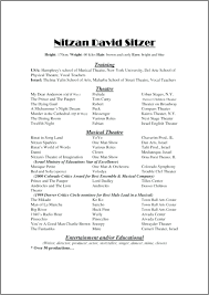 Sample Musician Resume Resume Theater Resume Template Examples Musician Picture